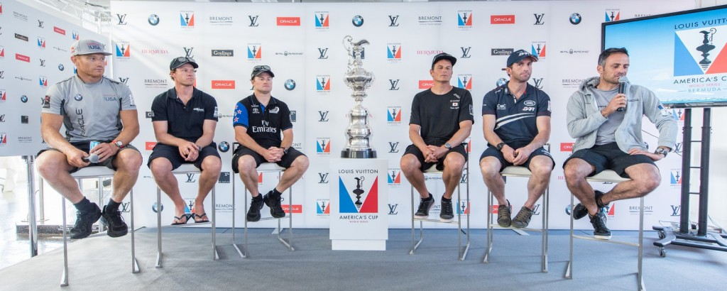 16/10/15 - Hamilton (BDA) - 35th America's Cup Bermuda 2017 - Louis Vuitton America's Cup World Series Bermuda - Skipper's Press Conference